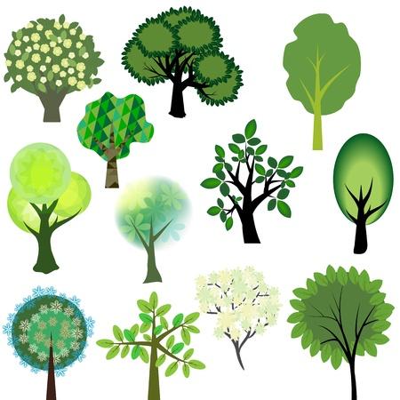 virágzó: Vector fák gyűjtemény