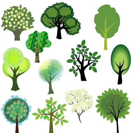 blossom tree: Vector trees collection