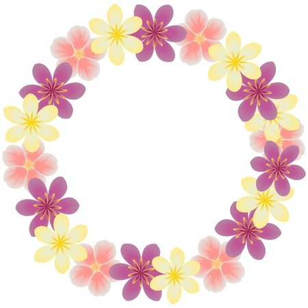 a round: Floral frame
