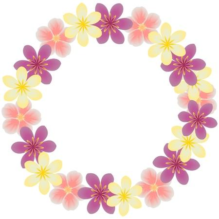 purple wreath: Floral frame