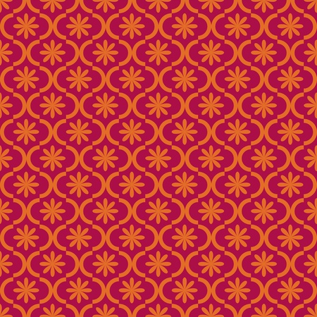 Seamless red classic background Vector