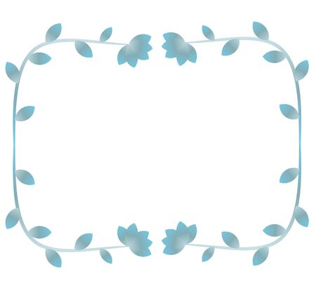 Blue decorative floral frame Vector