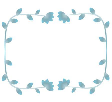 Blue decorative floral frame Illustration