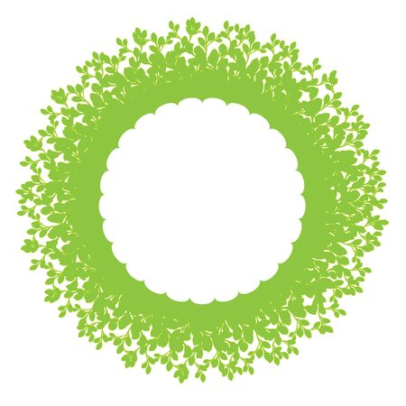 Foliage ring with copy space Vector