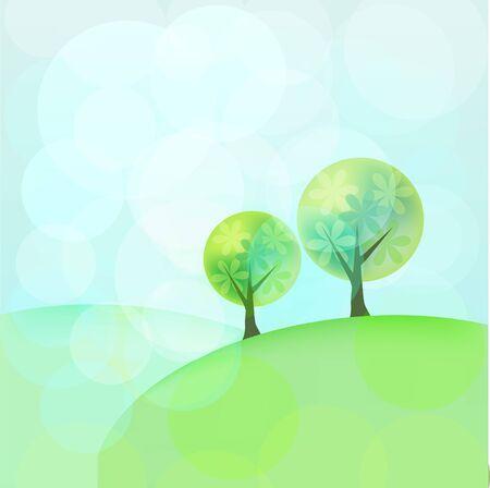 Landscape misty background Stock Vector - 14072428