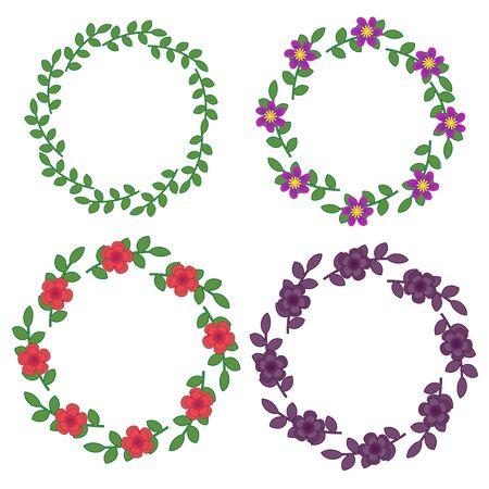 Decorativi cornici floreali