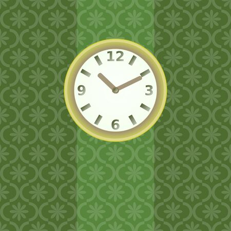 Clock on the wall illustration Vector