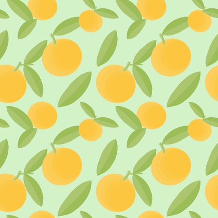 Orange fruits seamless pattern Vector