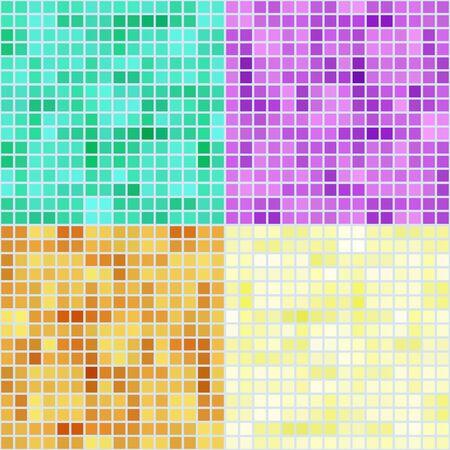 Conjunto de cuatro fondos de mosaico de colores