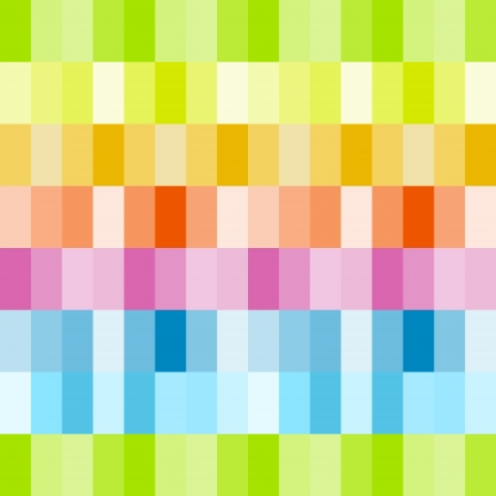 Rainbow colored rows of rectangles Illustration