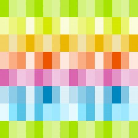Rainbow colored rows of rectangles Ilustração