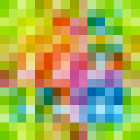 bright decoration color: Rainbow colored rows of rectangles Illustration