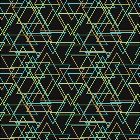 Sin fisuras patr�n abstracto con tri�ngulos multicolores Vectores