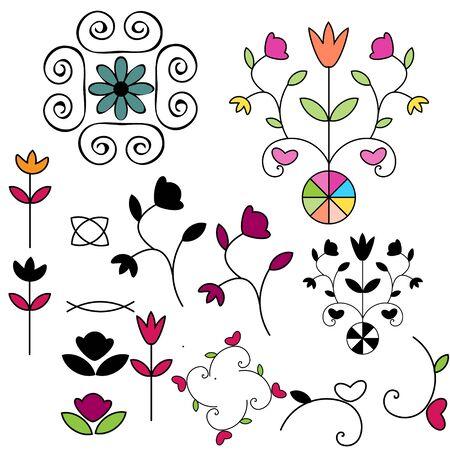 Decorative ornamental floral elements Stock Vector - 14471278
