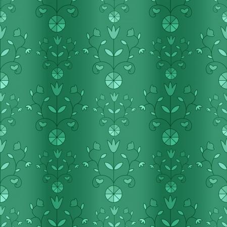 imitation: Curtain imitation with ornamental pattern Illustration