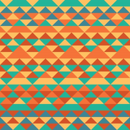 simple geometry: Seamless triangles pattern ethnic style