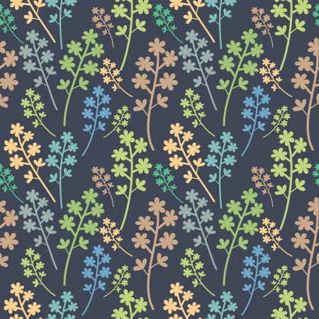 repeating pattern: Seamless multicolored floral pattern Illustration
