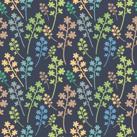 Seamless patr�n floral multicolor