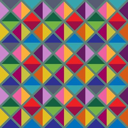 Seamless multicolored geometric pattern Illustration