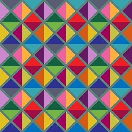 simple geometry: Seamless multicolored geometric pattern Illustration