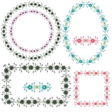 Ornamental decorative floral frames and elements Stock Vector - 14646177
