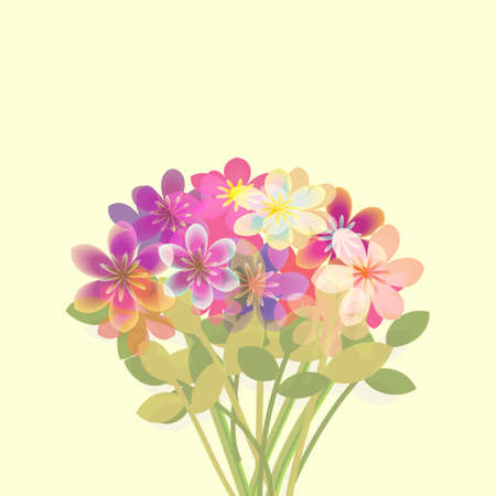 Bunch of flowers greeting card background photo