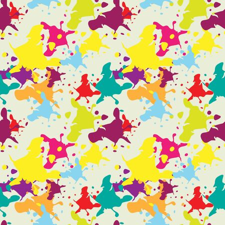 Multicolored blots seamless pattern Vector
