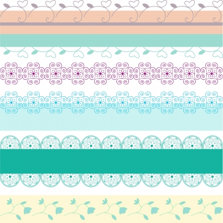 Set of decorative ornamental borders Vector