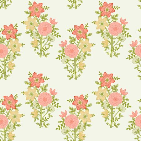 Flowering bunches seamless background Stock Vector - 14958934