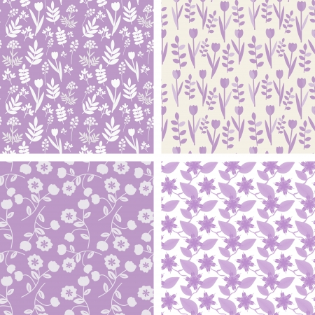 Pastel violet seamless pattern Vectores