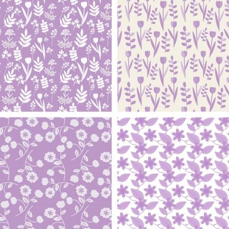 Pastel violet seamless pattern Illustration