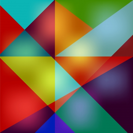Abstract multicolored glowing polygons background Vector