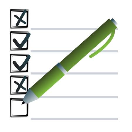 Pen and check boxex Illustration