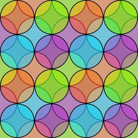 circle shape: Seamless multicolored transparent circles pattern