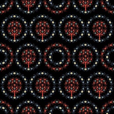 Seamless dark decorative damask pattern Stock Photo - 15513415