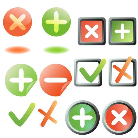 Add and remove buttons collection Stock Vector - 15913342