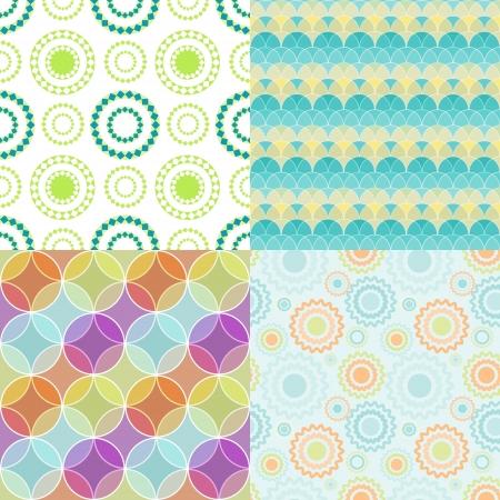 Seamless patterns con los c�rculos abstractos