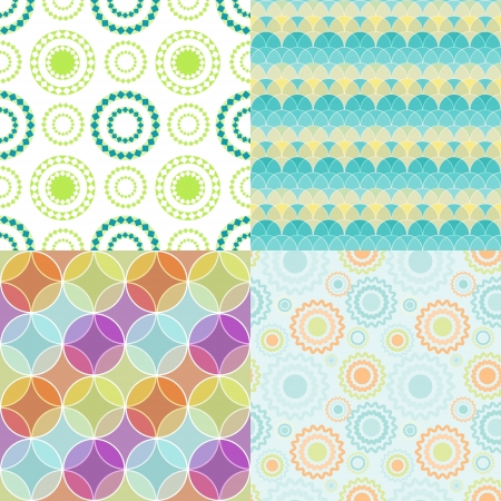 Seamless patterns with abstract circles
