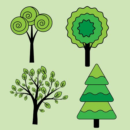 Tree illustration collection Иллюстрация