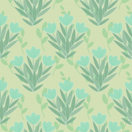 Blue flowers seamless floral pattern Illustration
