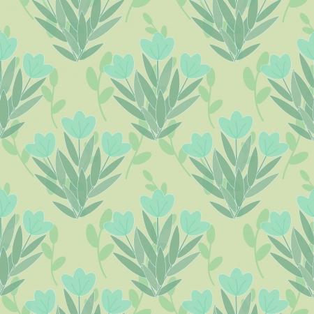 Blue flowers seamless floral pattern Illustration