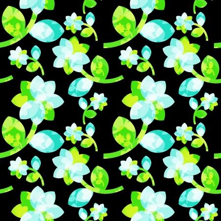 nakładki: Jednolite kwiatowy wzór z nakładką Ilustracja