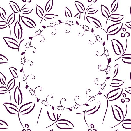 Framework with floral seamless pattern Stock Vector - 16122604