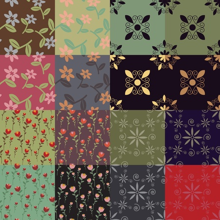 Seamless decorative patterns textile collection Stock Vector - 16122715