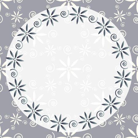 Decorative card template with round frame Stock Vector - 16122637