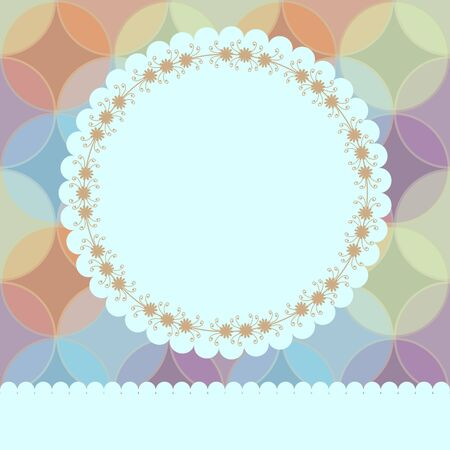 Floral card design with seamless circles Vector