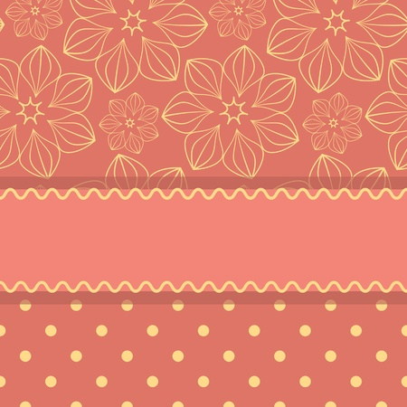 Pink card template with stripe and pattern Stock Vector - 16854692