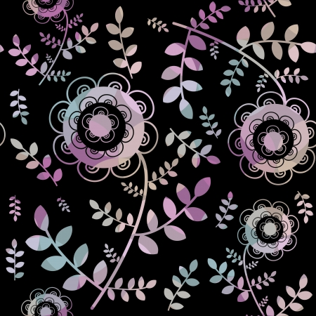 Modelo incons�til floral en negro