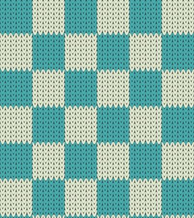 Azul Seamless ajedrez tejer y el patr�n blanco