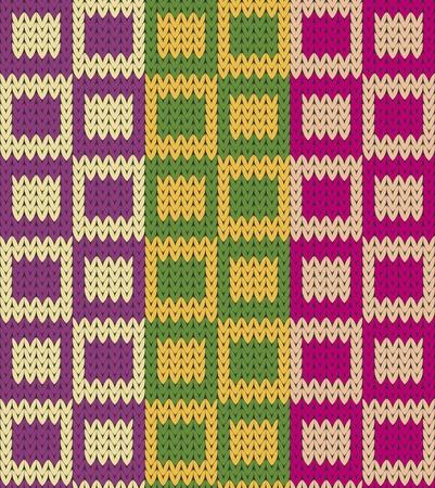 원활한 니트 사각형 모방 패턴